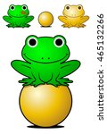 smiling green frog balancing on ... | Shutterstock .eps vector #465132266