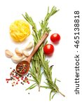 a food and healthy lifestyle... | Shutterstock . vector #465138818