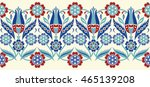 vector seamless border in... | Shutterstock .eps vector #465139208
