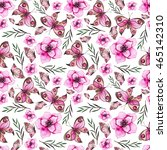 seamless pattern with... | Shutterstock . vector #465142310