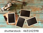 retro camera and empty old... | Shutterstock . vector #465142598