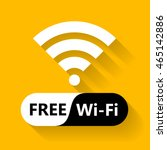 free wifi icon symbol. vector...   Shutterstock .eps vector #465142886