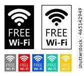 free wifi icon symbol. vector... | Shutterstock .eps vector #465142949