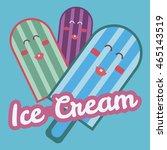 ice cream blue sale banner | Shutterstock .eps vector #465143519