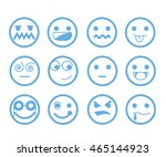 emoticon set | Shutterstock .eps vector #465144923