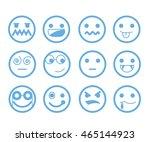 emoticon set | Shutterstock .eps vector #465144923