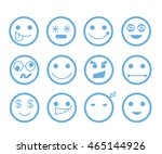 emoticon set | Shutterstock .eps vector #465144926