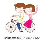 families wear national dress... | Shutterstock . vector #465149420