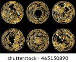 set circle hand drawn vector... | Shutterstock .eps vector #465150890