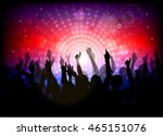club party with dancing people   Shutterstock .eps vector #465151076