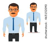 man with glasses in white shirt ...   Shutterstock .eps vector #465152090