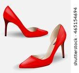 fashion women's red high heeled ...   Shutterstock .eps vector #465154694