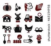 farm icon set | Shutterstock .eps vector #465154958