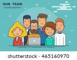 thin line flat modern style... | Shutterstock .eps vector #465160970