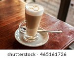 Cafe Latte In A Glass In...