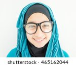 beautiful muslim arab girl | Shutterstock . vector #465162044