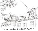 architecture sketch. hand drawn ...   Shutterstock .eps vector #465166613