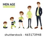 set of characters in cartoon... | Shutterstock .eps vector #465173948