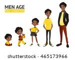 set of characters in cartoon... | Shutterstock .eps vector #465173966