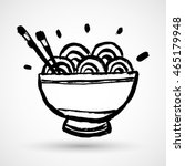 grunge black bowl icon with... | Shutterstock .eps vector #465179948