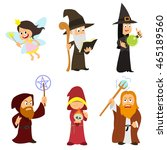 group of fabulous magicians ... | Shutterstock .eps vector #465189560