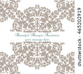 vintage baroque ornament card.... | Shutterstock .eps vector #465202919