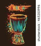 African Drum Tam Tam With...