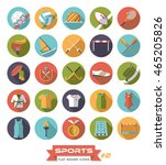 collection of sports icons ... | Shutterstock .eps vector #465205826