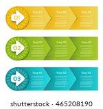 set of three version   vector...   Shutterstock .eps vector #465208190