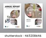 annual report brochure flyer... | Shutterstock .eps vector #465208646