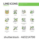 animals   set of modern vector... | Shutterstock .eps vector #465214700