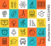 vector line style school and...   Shutterstock .eps vector #465216980