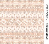 hand drawn tribal boho seamless ... | Shutterstock .eps vector #465223160