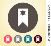 bookmark icon in round shape. | Shutterstock .eps vector #465227204
