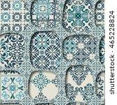 cracked tile pattern for...   Shutterstock .eps vector #465228824