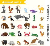 set with cute cartoon animals | Shutterstock .eps vector #465230528