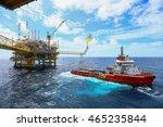 offshore construction platform...   Shutterstock . vector #465235844