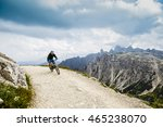mountain biking in the... | Shutterstock . vector #465238070