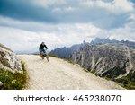 mountain biking in the... | Shutterstock . vector #465238070