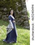 Medieval Blue Dress On Pretty...