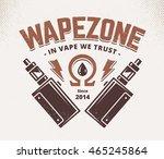 vape shop emblem template.... | Shutterstock .eps vector #465245864