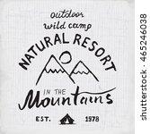 mountains hand drawn sketch...   Shutterstock . vector #465246038