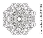 hand drawn floral and tribal... | Shutterstock .eps vector #465247589