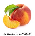 peach with slice | Shutterstock . vector #465247673