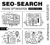 modern seo development pack.... | Shutterstock .eps vector #465251870