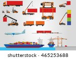 the big vector set of logistic. ... | Shutterstock .eps vector #465253688