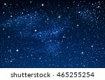 illustration of starry sky and... | Shutterstock .eps vector #465255254