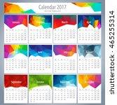 vector 2017 calendar template... | Shutterstock .eps vector #465255314