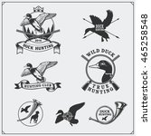 set of hunting labels and... | Shutterstock .eps vector #465258548