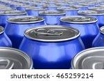 3d render of blue soda cans | Shutterstock . vector #465259214
